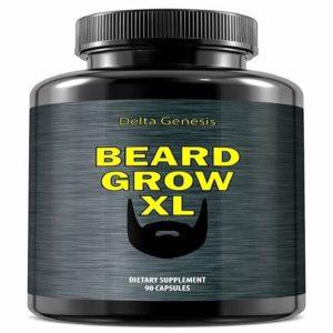 Beard Grow XL  Facial Hair Supplement  Vegan  1 Mens Hair Growth Vitamins  for Thicker and Ful38