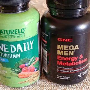 GNC Energy & Metabolism Vitamins versus Naturelo One Daily for Men
