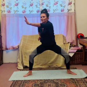 3 rounds of Wim Hof breathing, five minute horse stance and five minute abs. Yoga/breath quick fix