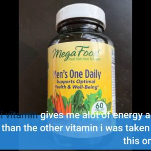MegaFood, Men's One Daily, Daily Multivitamin and Mineral Dietary Supplement with Vitamins B, D...
