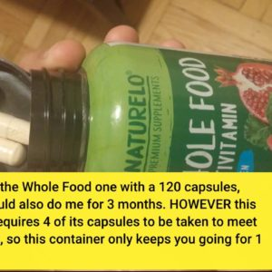 NATURELO Whole Food Multivitamin for Men - Natural Vitamins, Minerals, Antioxidants, Organic Ex...