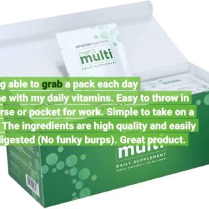 Smarter Nutrition Men's Multivitamin - Plant Sourced Vitamins & Powdered Minerals for Optimal A...
