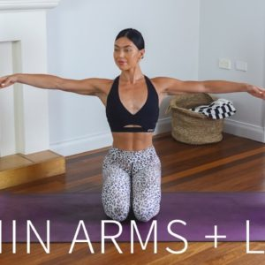 20 MIN ARMS & LEGS WORKOUT || At-Home Pilates (No Equipment)