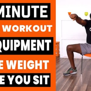 10 Minute Chair Workout For Weight Loss | NO EQUIPMENT