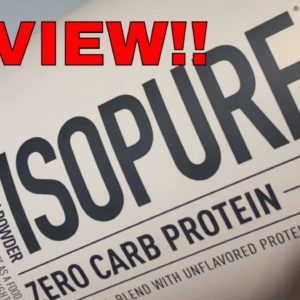 Isopure Zero Carb Protein Powder Review and Taste Test